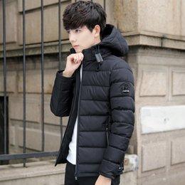 e1cfc16629a 2019 корейская мода для мужчин шорты Суп мечта мужская куртка зимняя  тенденция новая мужская молодежь хлопок