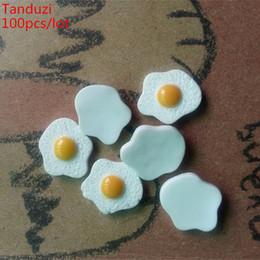 ome decor paper crafts Tanduzi 100pcs all'ingrosso cabochon in resina Flatback Simulazione cibo fritto uovo fai da te 1:12 Dollhouse Miniature Decorazio ... da