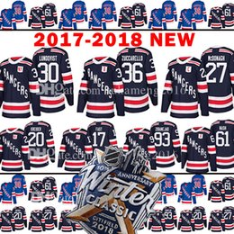 Wholesale Fast Dryer - 2018 New York Rangers 36 Mats Zuccarello 30 Henrik Lundqvist Jersey 17 Jesper Fast Kreider Mika Zibanejad Rick Nash Ryan McDonagh Jerseys