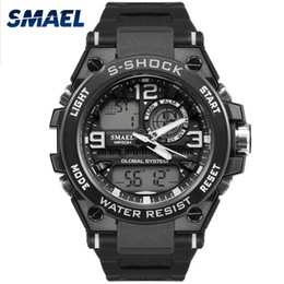 Wholesale Shockproof Watches - 2017 SMAEL Fashion Cool Men Watches Casual Waterproof Electronic Original Smart Shockproof LED Light Male Dive Hot Selling 1603