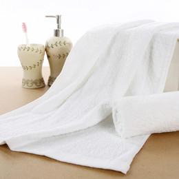 Wholesale Disposable Hair Towels - 10Pcs lot High Quality Disposable Cotton Hotel Face Towel White Beauty Salon Towel House Cleaning Dry Hair 30x65cm