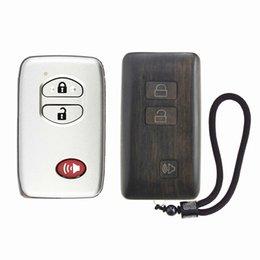 boîtier de clé à distance de voiture toyota Promotion Clé de voiture de palissandre à télécommande de remplacement FOB Shell de remplacement pour le cas de Toyota Prodo 4Runner Land Cruiser Prius Venza uniquement