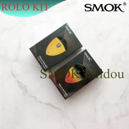 Démarreur smok en Ligne-Authentique SMOK Rolo Badge Kit 16W Rolo Badge Vape Pod Kit De Démarrage 2ml Kit Minuscule 250mAh Smoktech 100%