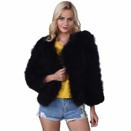 2019 casaco curto da luva da pele do falso 2017 Inverno Faux Fur Coat Mulheres Manga Comprida Chique Quente Curto Estilo de Luxo Casaco De Pele Das Mulheres Falso Coelho Outwear Senhoras 3XL F3 desconto casaco curto da luva da pele do falso