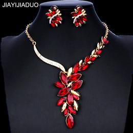 2019 collar esmeralda de la boda fija jiayijiaduo turcos conjuntos de joyería nupcial mujeres sistemas de la joyería collares de cristal pendientes vestidos accesorios regalos nuevos