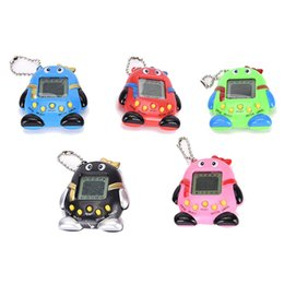 Wholesale pet penguin - Hot ! 2018 Tamagotch Electronic Pets Toys 90S Nostalgic 168 Pets in One Virtual Cyber Pet Toy 6 Style Penguins toy Tamagoch