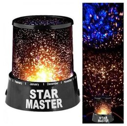 Wholesale moon projectors - Amazing Colorful of Star Sky Romatic Gift Cosmos Sky Star Master Projector LED Starry Night Light Star Master Lamp CCA9786 100pcs