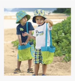 Wholesale Packaging Netting - Sand away beach bag Outdoor children's beach toys fast storage bag Dredging tools debris storage net small package