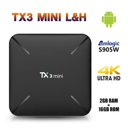 android media player Coupons - New TX3 Mini L TV Box Android 7.1 Amlogic S905W Quad Core 4K 2GB 16GB H.265 2.4G WiFi HDMI 100Mbps Smart Media Player Set-top Box TX3mini