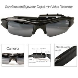 câmera dvr de óculos de sol Desconto Lightdow Mini Óculos de Sol Óculos Gravador de Vídeo Digital Câmera Óculos Mini Filmadora Óculos De Vídeo DVR