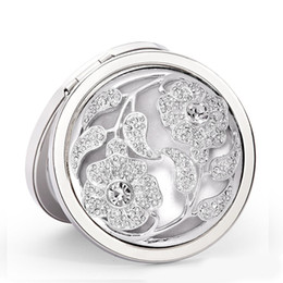 """Wholesale Making Out Hot - Hot Sale Silver Tone Carved Hollow Out Make Up Compact Mirror 6.6x6.2cm 2-5 8""""x2-1 2"""" sold per cosmetic folding portable compact pocket"""