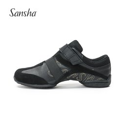 Wholesale dance sneakers new - Sansha 2018 New Dance Sneakers Low Heel Split-Sole Smooth Design Style S179LPI
