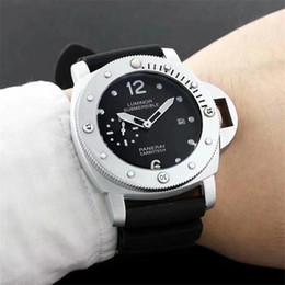 Logo relógios on-line-Celebridade endosso Top Dos Homens LUMNOR LOGOTIPO Tamanho 47mm men Watch luxo Clássico de Alta qualidade relógio Relogio relógio marca relógios de Pulso
