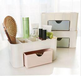 Wholesale Organizer Plastic Storage Drawers - Cosmetic Jewelry Organizer Office Storage Drawer Desk Makeup Case Plastic Makeup Brush Box Lipstick Remote Control Holder
