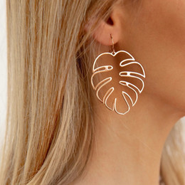 Canada Boucles d'oreilles vintage feuille de noix de coco creuse pour les femmes indiennes bijoux Boho Vintage déclaration boucle d'oreille fille grandes boucles d'oreilles Offre