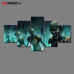 Lord rings print online-Lord Rings Undead Skull 5 Panel Canvas Print Wall Art Decorations para el hogar A1257