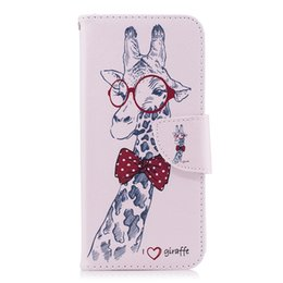 2019 giraffe telefon fällen Schöne Mr Giraffe Handy TPU Zurück Fällen Soft PU Leder Abdeckung Brieftasche Karten Slot Geld Halter 165 Modelle für Option günstig giraffe telefon fällen