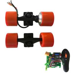 Motor skates on-line-DIY New longboard Elétrica 72mm hub brushless motor kit rodas de caminhão de skate de 6 polegada de acionamento do motor único de Alumínio caminhão flange