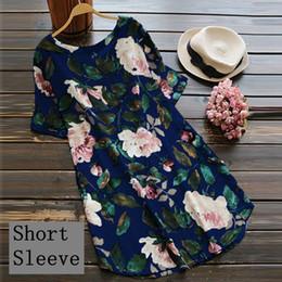 719075636ca4fd Plus Size Bohemian Floral Frauen Kleid 2018 Neue Lose Strand Lange Maxi  Kleider Kurzarm Weiblichen Sommerkleid Bequeme Baumwolle Leinen
