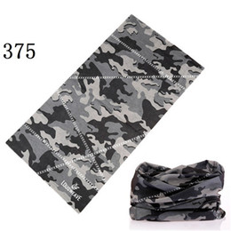 Wholesale Uv Headwear - 361-380 Bicycle Anti-UV Bandana Seamless hijab Bandana headwear Mask Camo Magic Scarf Headband Neck Tube Face Mask Wrap