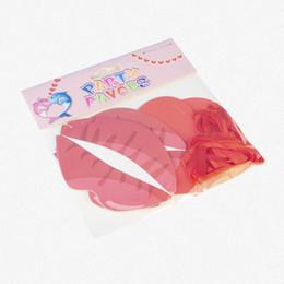 """Papier wimpel banner online-2 Schicht Papier Herz Lippen String Valentinstag / Birthday Party Flag """"Ich liebe dich"""" Hochzeit hängen Wimpel Banner Dekor Fahnen"""