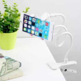 Tragbare Lazy Mount Doppel-V-Clip Handyhalter Clamp Flexible Schwanenhals fit Bett DesktopTablet Auto Selfie 360 drehen von Fabrikanten