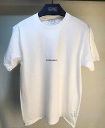 Wholesale mens printed tops - Men T Shirts For Shirt Simple Letter Printed Saint T Shirt Paris SLP Short Sleeve Mens Lauren Tags Street Style Tops Tee Shirt Free Ship