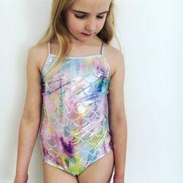 3ff084fb8e0e2 2018 Kids Baby Swimwear Bikini Girls Mermaid Bikini Swimwear Fish Scale Swimming  Costume Swimsuit
