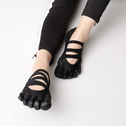 e5fcef835a9e Five-fingers Yoga Wear Gear Pilates Five Fingers Resistente al  deslizamiento Transpirable Peso ligero Nude Black Shoe para Mujer Zapatos  de baile