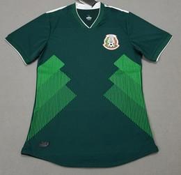 Wholesale G R - Player Version Mexico home green soccer jersey CHICHARITO 2018 men's football shirts R MARQUEZ thai quality sportswear G DOS SANTOS H LOZANO