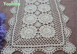 Wholesale Crochet Hot Pads - HOT Lace cotton Square table place mat pad cloth handmade crochet cup mug holder dining coaster placemat glass doilies kitchen