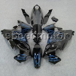 Wholesale Dark Blue Katana - colors+Gifts blue flames motorcycle Fairing for Suzuki Katana 03-06 GSX600F 2003 2004 2005 2006 GSX 750F ABS plastic kit