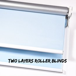 Wholesale French Living - hot sale two layers transparent and blackout customerized roller blinds curtain for window in living rooms from china factory