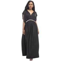 Canada Robes de soirée pour les femmes enceintes Vêtements de maternité Long Loose V-Neck Diamond Belt Robe de grossesse Lady Gravidas Vestidos Dress cheap loose long dresses belt Offre