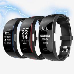 Canada RUIJIE P3 Smart Bande ECG + PPG Pression artérielle en temps réel Surveillance de la fréquence cardiaque Podomètre Fitness Tracker Sport Bracelet Offre
