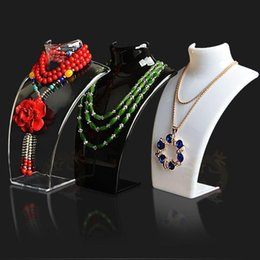 Wholesale Wholesale Jewelry Mannequin Necklace Holder - New and Hot Sale Three Colors 20*13.5*6cm Mannequin Necklace Jewelry Pendant Display Stand Holder Show Decorate Retail