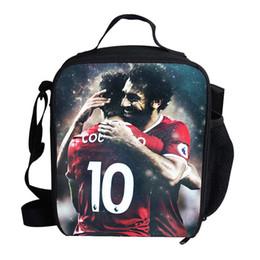 sacs à lunch design Promotion Cool thermique Isolé Sac À Lunch Pour Enfants Mohamed Salah Footballeur Conception Sac À Lunch Pour Enfants École Sacs À Bandoulière