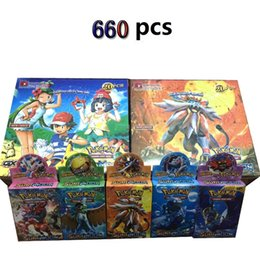 Wholesale Game Toys - New Fashion Poke Trading Cards Games Steam Seige English Edition Anime Pocket Monsters Cards Toys 660pcs lot F830