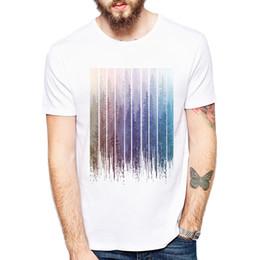398735f7 grunge shorts Coupons - Newest Fashion Grunge Dripping Rainbow Misty Forest  Design Men t-shirt