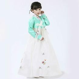 Moda infantil coreano vestido tradicional para niñas bordado trajes Hanbok minorías étnicas danza del escenario ropa desde fabricantes