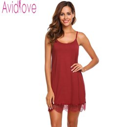 e8b00dc7de Avidlove Lady Cotton Nightgown Women Nightwear Nightdress Female Sleeveless  Lace Nighty Sexy Sleepwear Sleepshirt Home Clothing