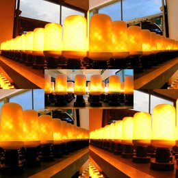 Wholesale vintage acrylic lamps - LED Flame Effect Fire Light Bulbs E27 E26 2835 9W Creative Lights Flickering Emulation Vintage Atmosphere Decorative Lamp