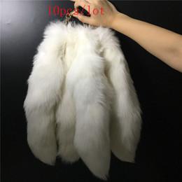 portachiavi in pelliccia bianca Sconti 10pcs 20