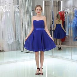 Short evening dress 2018 Strapless Back Lace-up Dresses Formal Party Dress  Vestido De Festa red prom dresses B0519 d1120a6fb06a
