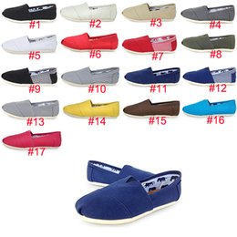 72a0e95e6bea 17 Colors TOM Sneakers Slip-On Casual Lazy Shoes for Women and Men Fashion Canvas  Loafers Flats Size 35-45 Classics Designer Shoes good