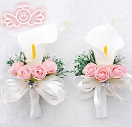 Cala broches de la boda del lirio online-Decoraciones de la boda: novia, decoración, cala, broche, broche, aguja larga, novia y broche.