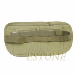 Wholesale Slim Waist Bag - THINKTHENDO Travel Pouch Hidden Wallet Passport Money Waist Belt Bag Slim Secret Security