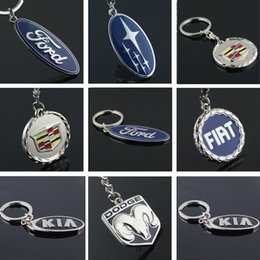 аксессуары для киа Скидка EUPNHY 1Pcs 3D Car Logo Keychain Ford KIA Cadillac Key Chains Key Rings Fashion Metal Pendant Car Accessories