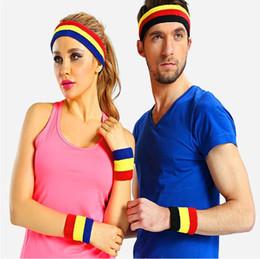 toalhas de tênis de mesa Desconto Esporte Absorver o suor e toalha quente Pulseiras bandana terno equipamento de Badminton de tênis de basquete tênis de mesa T4H0176