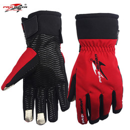 Wholesale Long Black Motorcycle Gloves - Motorcycle Gloves Waterproof Touch Screen Skiing Long For Men Electric Bike Glove Protective Gear Cycling Motocross All Season